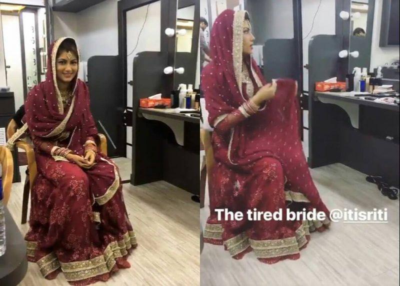 Sriti Jha aka Pragya's bridal look in 'Kumkum Bhagya'