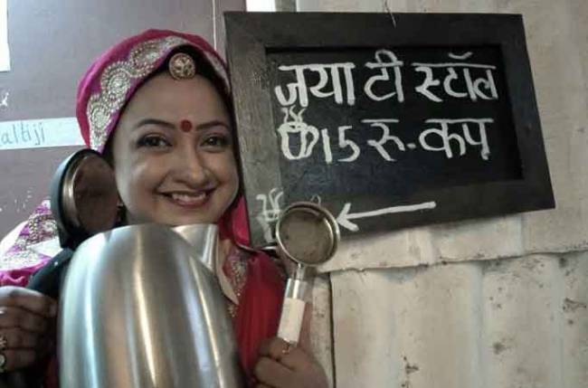 Special 'Jaya tea stall' on the sets of Badho Bahu!