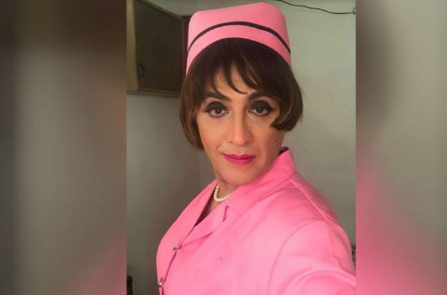 Ooh la la: Aasif Sheikh dons a look of a nurse in Bhabhiji